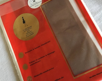 French vintage stockings, Vintage seamless nylon Stockings, Size 2, Medium,  Vintage French Hosiery,