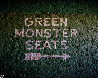 Boston Red Sox Photography / Massachusetts Photography / Wall Art / Baseball Home Decor / Green Monster Seats; Fenway Park, Boston