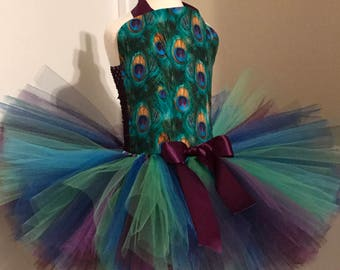 Peacock costume 2 pc Costume set Great for Halloween, photo props, Birthday or Valentine's or Christmas gifts