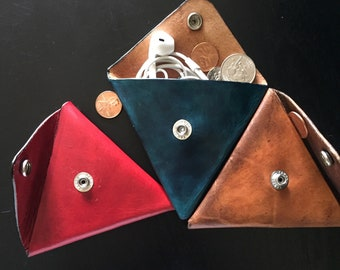 Leather pouches for coins & other small accessories
