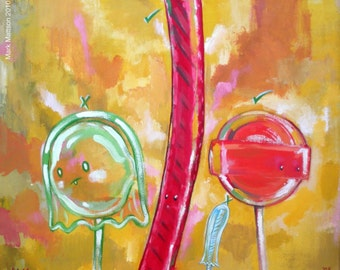 Cherry Licorice and Tangerine Lollipop (With Ghosts)