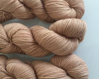 Hand Dyed DK BFL yarn in colourway Mina Murray 100g