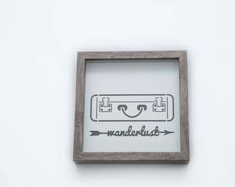 Wanderlust | 3D Stencil Art | Shadow Box