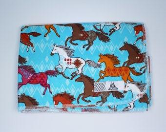 "Southwestern Horses Extra Large Receiving Blanket - 36"" x 42"""