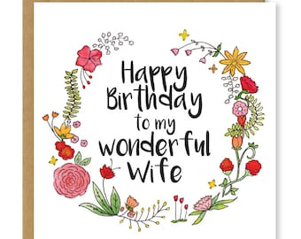 Roll safe meme happy birthday card funny happy birthday card happy birthday wife my wonderful wife card birthday card for the wife floral bookmarktalkfo Images