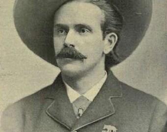 Wild West Man Cowboy 8 1/2 x 11 Vintage view