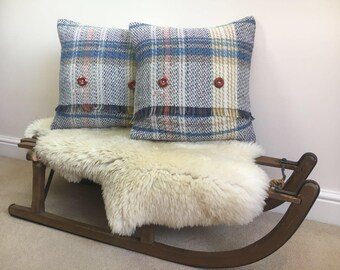 Square Cushion - Yorkshire Blankets Eco Friendly 80% Wool