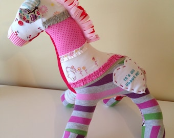 Keepsake Memory Giraffe from your Baby Clothes