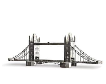 London architectural model kits - famous landmarks tower bridge