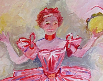 fine art photograph print Encaustic TAmborine Girl