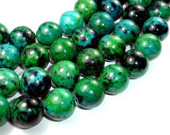 Chrysocolla, 18mm Round Beads, 15.5 Inch, Full strand, Approx 22 beads, Hole 1.5 mm, A quality, Reconstituted (196054010)