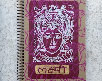 Lakshmi Hand Painted Spiral Lined Journal