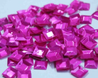 100 Square 3D Pink Color Sequins/ KBSS235