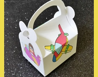 airplane  favor box, airplane  party favor, airplane birthday