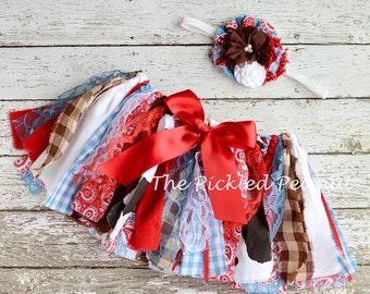 Cowgirl Birthday Western Birthday Cowgirl Outfit Cowgirl Tutu Cowgirl Skirt 1st Birthday Baby Girl Baby Tutu Baby Outfit Rodeo Birthday Tutu