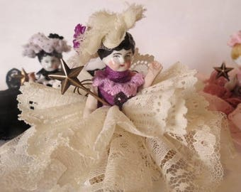 """Assemblage Angel """"Ivory Flounce""""  Assemblage Art Doll, Antique Doll Parts, Vintage Style Art Doll"""
