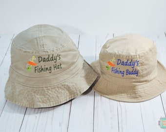 Daddy's Fishing Buddy Bucket Hat Set