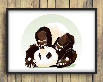 Panda cabriole poster