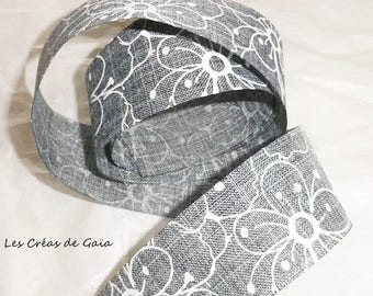 1 x 93 cm of fancy - canvas printed Ribbon