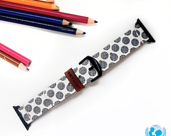 Dotty Apple Watch Band 38mm, 42mm//Handmade Apple Watch Strap iWatch Band iWatch Strap Wearable Tech Christmas Gift For Her/Him