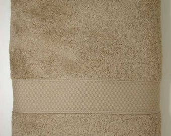 Shower 70x130cm towel cotton Terry color Otter / Taupe