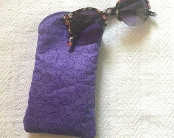 Purple Swirl Sunglasses Case