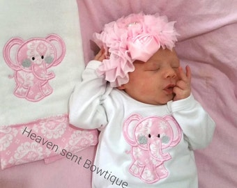 Baby girl coming home nightgown, Newborn baby girl Layette set, Baby girl coming home  outfit.