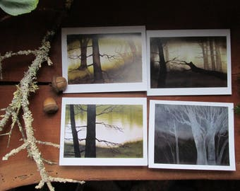 Set of 4 Forest Greeting Cards