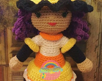 Camilla the Candy Corn Witch Halloween Doll - Amigurumi Crochet Pattern