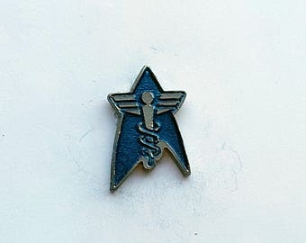 Star Fleet Medical 1 in. Lapel Pin or Magnet