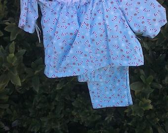 Holiday Smocked Childrens Pajama's