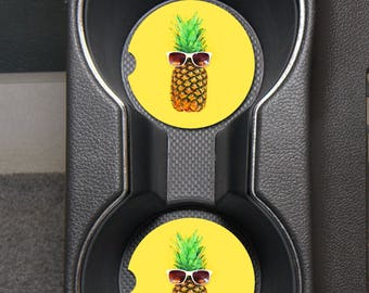Monogram Car Coasters/Pineapple Car Coasters/Sandstone Car Coasters/Monogram Pineapples/Monogram Car Accessories