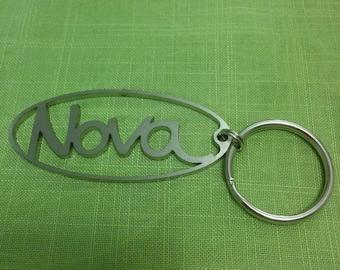 Chevy Nova logo keychain