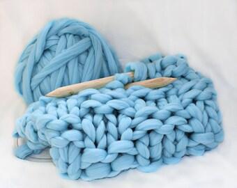 DIY KIT for chunky knit blanket ,Kit for super chunky blanket, Knitting Kit, Make your own chunky blanket, chunky blanket, KIT, chunky knits