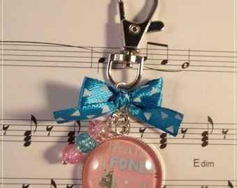 Keyring / bag charm, I can't I pony
