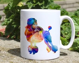 Poodle mug - Dog mug - Colorful printed mug - Tee mug - Coffee Mug - Gift Idea