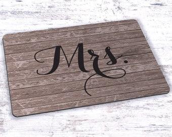 Mrs Woodgrain Mousepad - 7.75 x 9.25