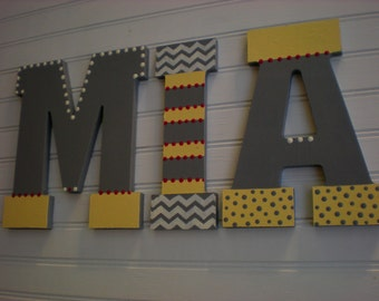 Kids Name Letters - Baby Name - Nursery Letters - Boy Name Letters - Girl Name Letters - Kids Wall Art