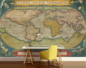 World map wall mural old map wallpaper vintage old map old world map wallpaper old map wall mural vintage world map self adhesive vinly world map wall decal retro world map unique world map gumiabroncs Choice Image