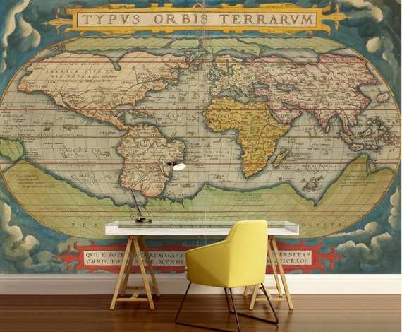 Old world map wallpaper old map wall mural vintage world old world map wallpaper old map wall mural vintage world map self adhesive vinly world map wall decal retro world map unique world map gumiabroncs Images