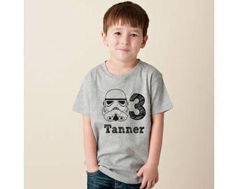 Star Wars Clone Trooper birthday boy t shirt with name