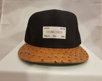 Munchies Hat With Ostrich Brim