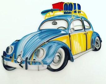 Paper Quilled Volkswagen Beetle Bug