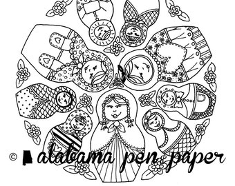 Darling Dolls Coloring Page Download