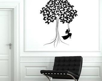 Wall Art Mural Tree Branch Romantic Girl Bedroom Decor 2097di