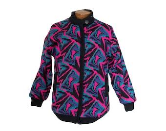 Vintage Women's 80's  Neon Print Jacket Size Large