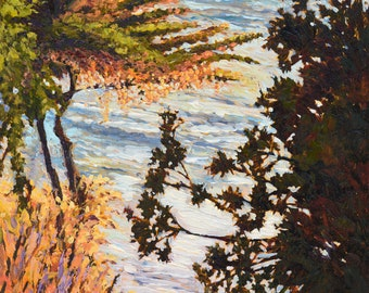 Santa Barbara art, Mesa Lane Beach canvas prints, beach canvas prints,Santa Barbara Beach, Mesa Lane Beach, Painting in Giclee Prints.