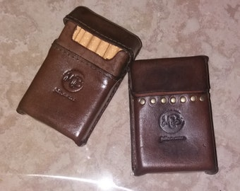 Hand Sewn leather cigarette pack holder