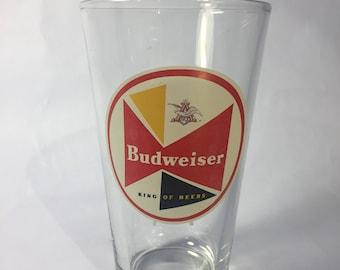 Vintage Budweiser pint glass