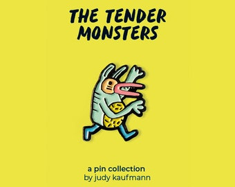 Green Monster Enamel Pin The Tender Monsters Collection